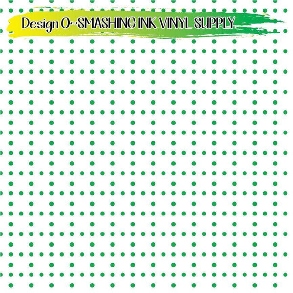 Green White Dots - Pattern Vinyl (READY IN 3 BUS DAYS)