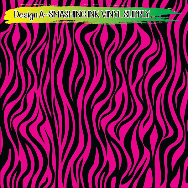 Pink Black Animal Print - Pattern Vinyl (SHIPS IN 3 BUS DAYS)