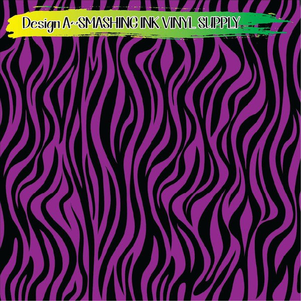 Purple Black Animal Print - Pattern Vinyl (READY IN 3 BUS DAYS)
