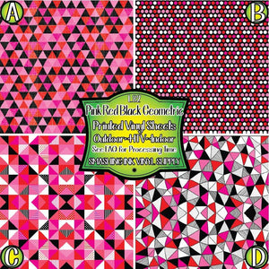 Valentines Geometric - Pattern Vinyl (READY IN 3 BUS DAYS)