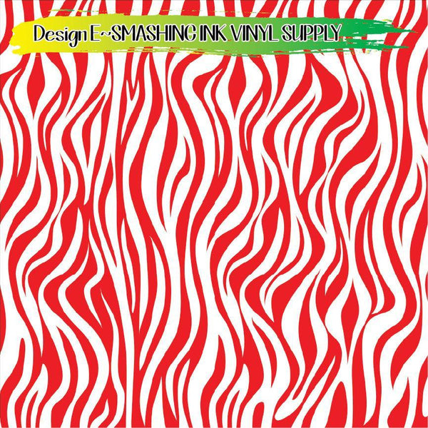 Red White Animal Print - Pattern Vinyl (READY IN 3 BUS DAYS)