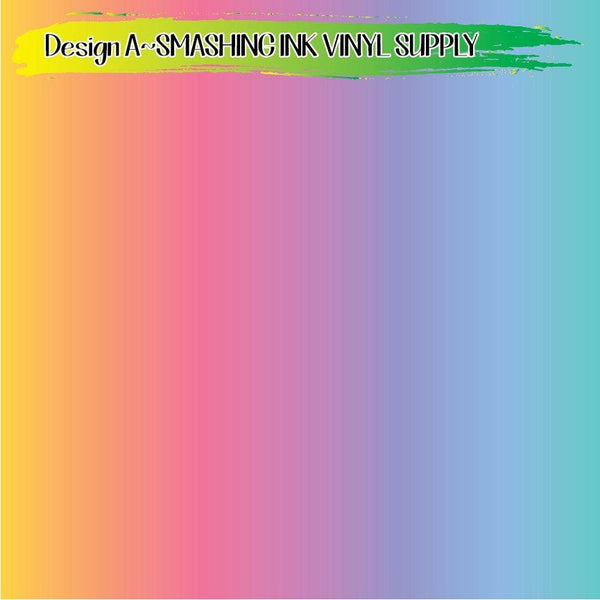 Colorful Pastel Stripe - Pattern Vinyl (READY IN 3 BUS DAYS)