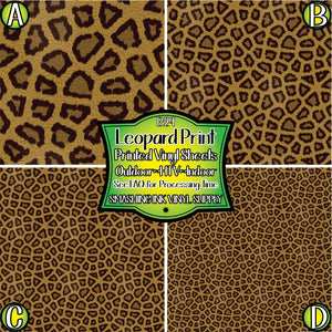 Leopard Print - Pattern Vinyl (MTO-3 BUS DAYS)