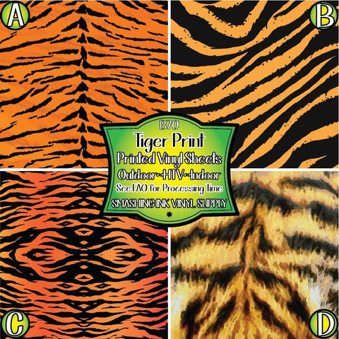 Tiger Stripes Print - Pattern Vinyl (SHIPS IN 3 BUS DAYS)