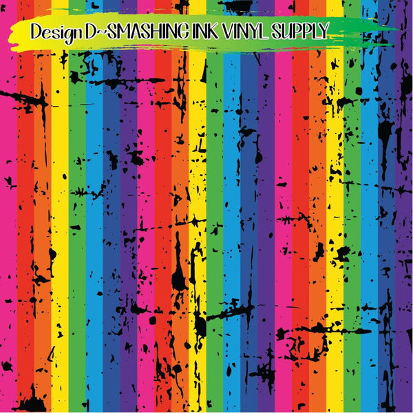 Distress Rainbow Print - Pattern Vinyl (READY IN 3 BUS DAYS)