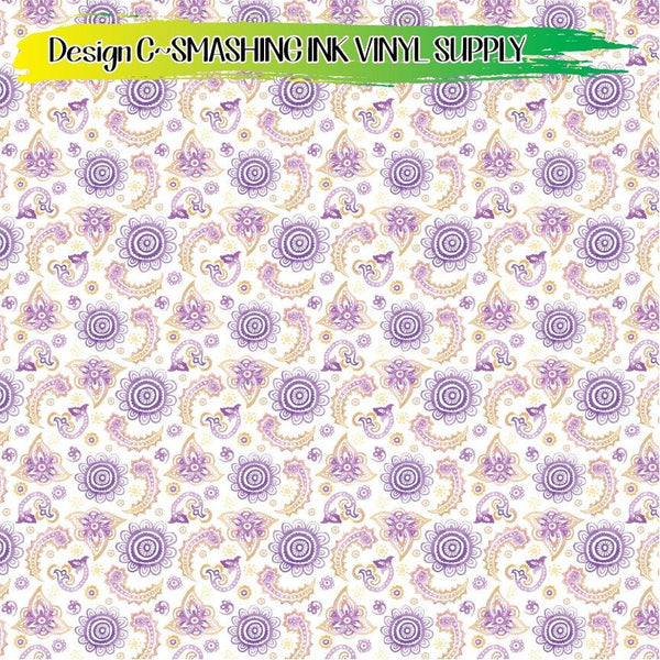 Watercolor Floral - Pattern Vinyl (SHIPS IN 3 BUS DAYS)