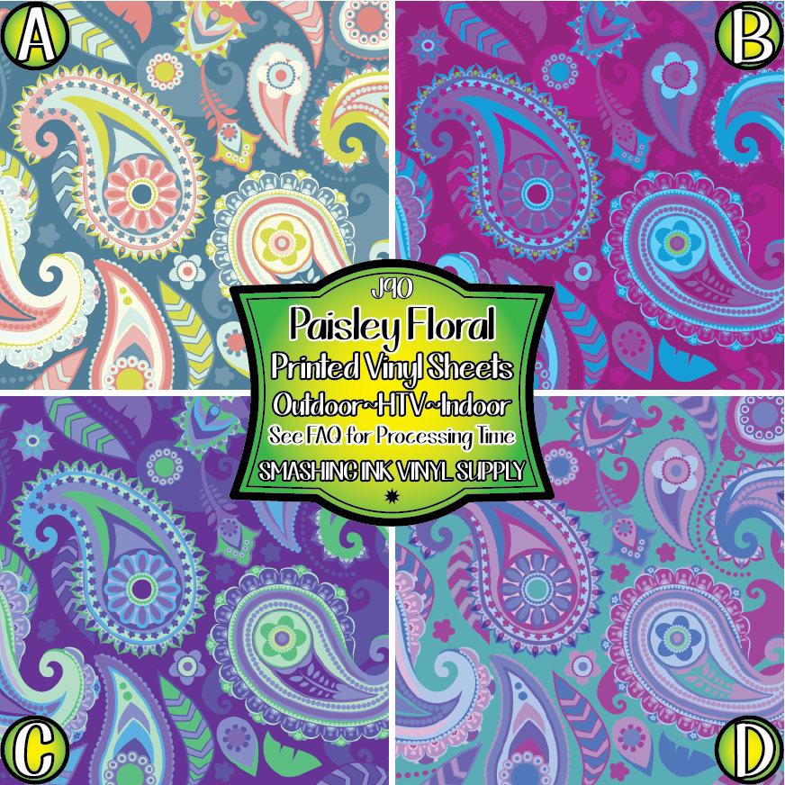 Paisley Pattern - Pattern Vinyl (READY IN 3 BUS DAYS)