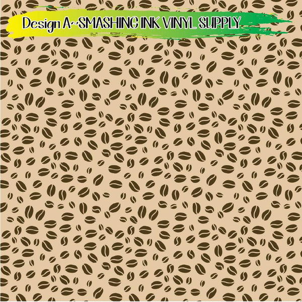 Coffee Pattern - Pattern Vinyl (READY IN 3 BUS DAYS)