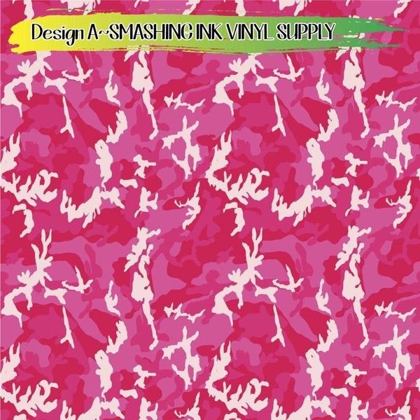 Pink Camo Print - Pattern Vinyl (READY IN 3 BUS DAYS)