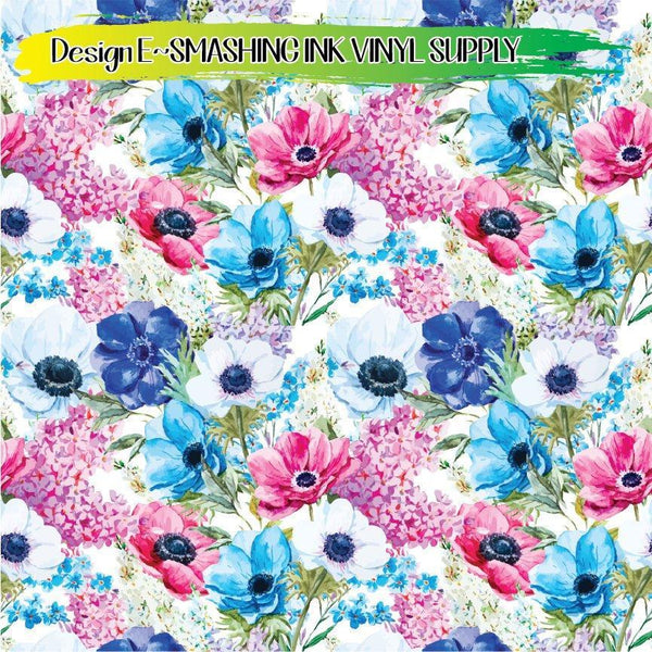 Floral Watercolor - Pattern Vinyl (READY IN 3 BUS DAYS)