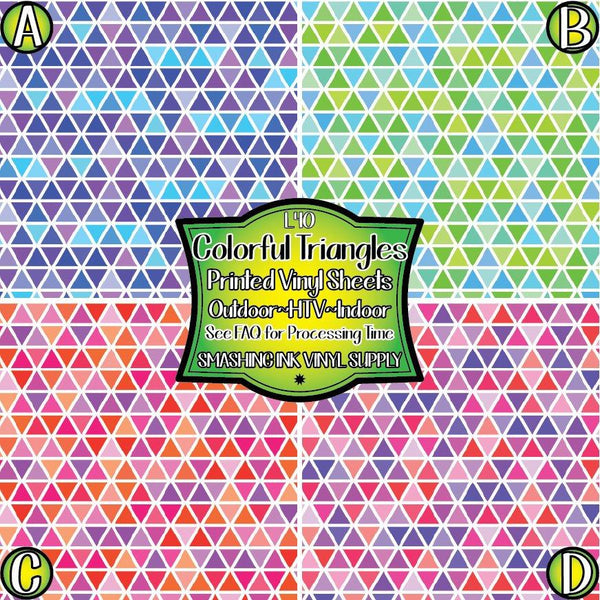 Colorful Triangle - Pattern Vinyl (READY IN 3 BUS DAYS)