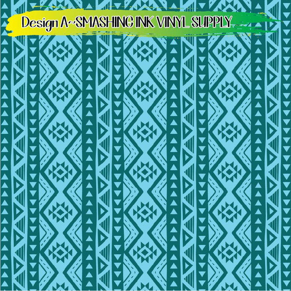 Aztec Zig Zag Print - Pattern Vinyl (READY IN 3 BUS DAYS)