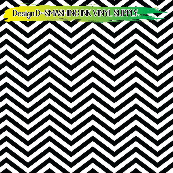 Black White Chevron - Pattern Vinyl (SHIPS IN 3 BUS DAYS)