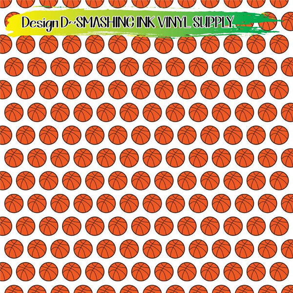 Basketball - Pattern Vinyl (READY IN 3 BUS DAYS)