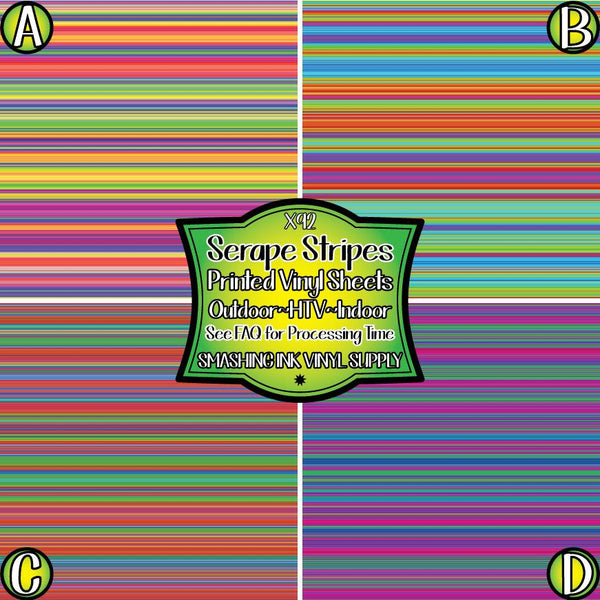 Serape Striped - Pattern Vinyl (READY IN 3 BUS DAYS)