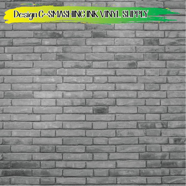 Brick Wall Pattern - Pattern Vinyl (READY IN 3 BUS DAYS)