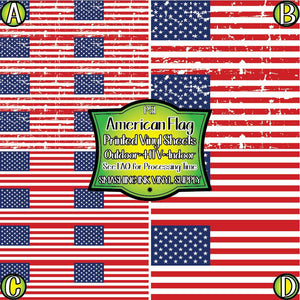 American Flag - Pattern Vinyl (MTO-3 BUS DAYS)