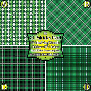 St. Patricks Day Plaid - Pattern Vinyl (MTO-3 BUS DAYS)