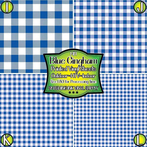 Blue Gingham - Pattern Vinyl (READY IN 3 BUS DAYS)