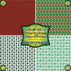 Football Patterned - Pattern Vinyl (READY IN 3 BUS DAYS)