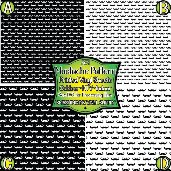 Mustache Pattern - Pattern Vinyl (READY IN 3 BUS DAYS)