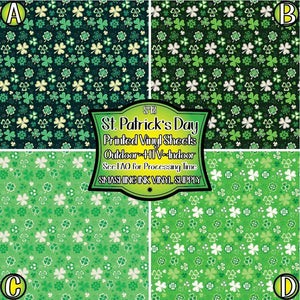 St. Patricks Pattern - Pattern Vinyl (MTO-3 BUS DAYS)