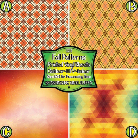 Fall Pattern - Pattern Vinyl (READY IN 3 BUS DAYS)