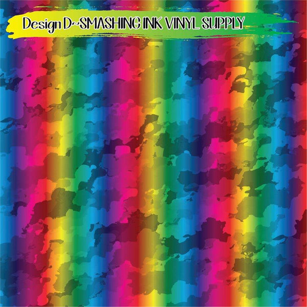 Rainbow Camo - Pattern Vinyl (READY IN 3 BUS DAYS)