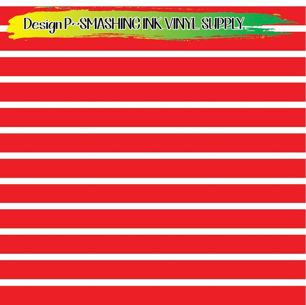 Red White Stripes - Pattern Vinyl (READY IN 3 BUS DAYS)