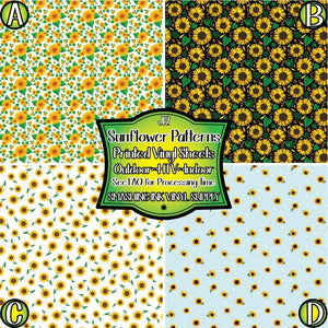 Sunflower Pattern - Pattern Vinyl (MTO-3 BUS DAYS)