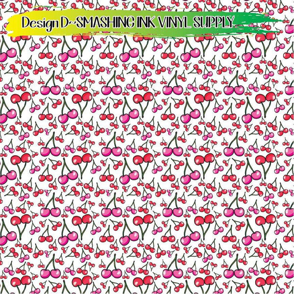 Cherry Pattern - Pattern Vinyl (READY IN 3 BUS DAYS)