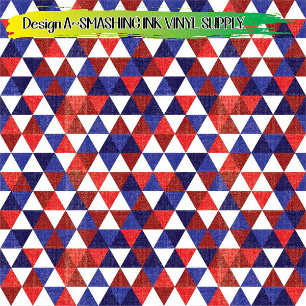 Distress Patriotic - Pattern Vinyl (SHIPS IN 3 BUS DAYS)