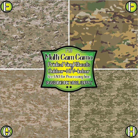 Multi Cam Camo - Pattern Vinyl (SHIPS IN 3 BUS DAYS)