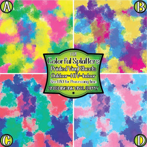 Colorful Splatters - Pattern Vinyl (READY IN 3 BUS DAYS)