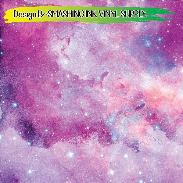 Pastel Galaxy Space - Pattern Vinyl (READY IN 3 BUS DAYS)