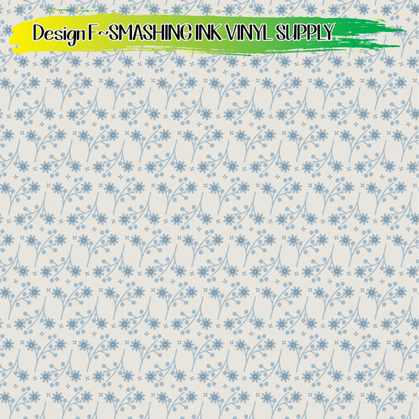 Pastel Floral Pattern - Pattern Vinyl (READY IN 3 BUS DAYS)