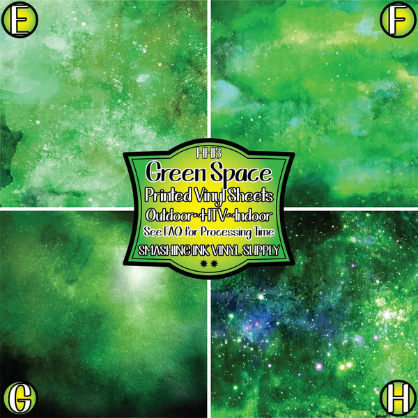 Green Space Galaxy - Pattern Vinyl (READY IN 3 BUS DAYS)