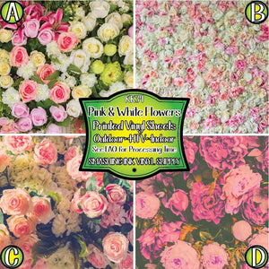 Pink and White Flowers - Pattern Vinyl (READY IN 3 BUS DAYS)