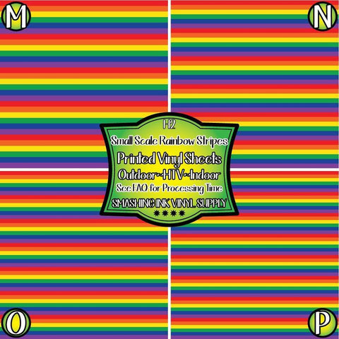 Small Rainbow Striped - Pattern Vinyl (SHIPS IN 3 BUS DAYS)