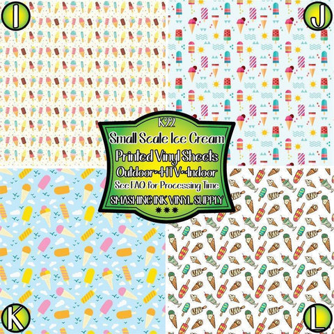 Ice Cream Pattern - Patterned Vinyl Done Printed
