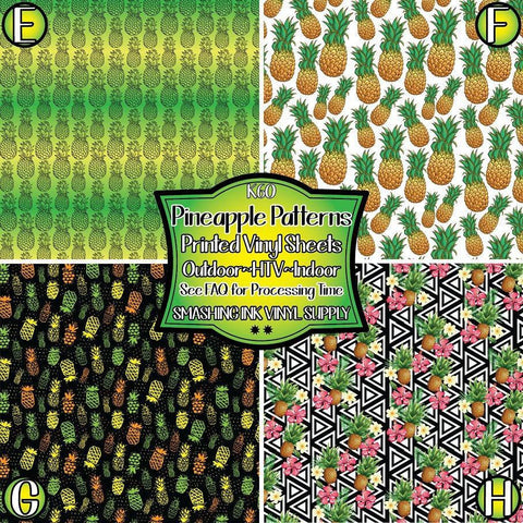 Pineapple Pattern - Patterned Vinyl Done Printed