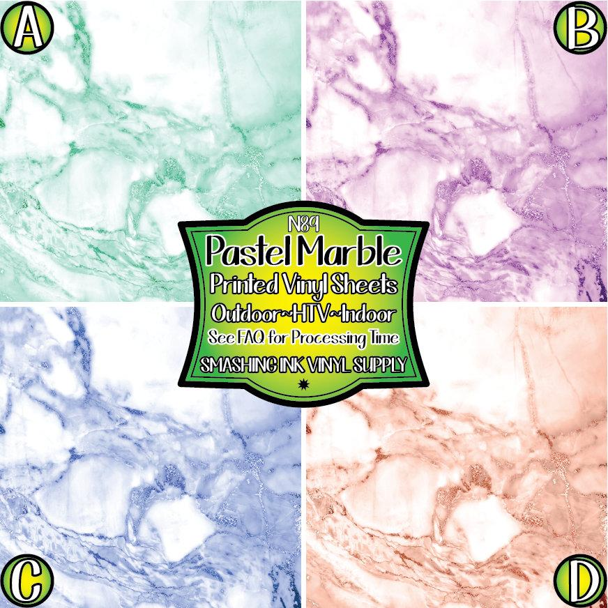 Pastel Marble - Pattern Vinyl (READY IN 3 BUS DAYS)