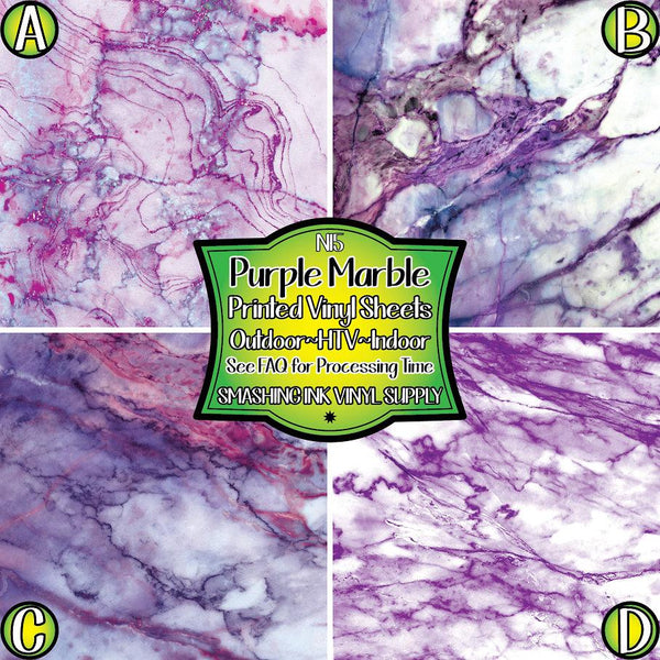 Purple Marble - Pattern Vinyl (READY IN 3 BUS DAYS)
