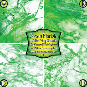 Green Marble - Pattern Vinyl (READY IN 3 BUS DAYS)
