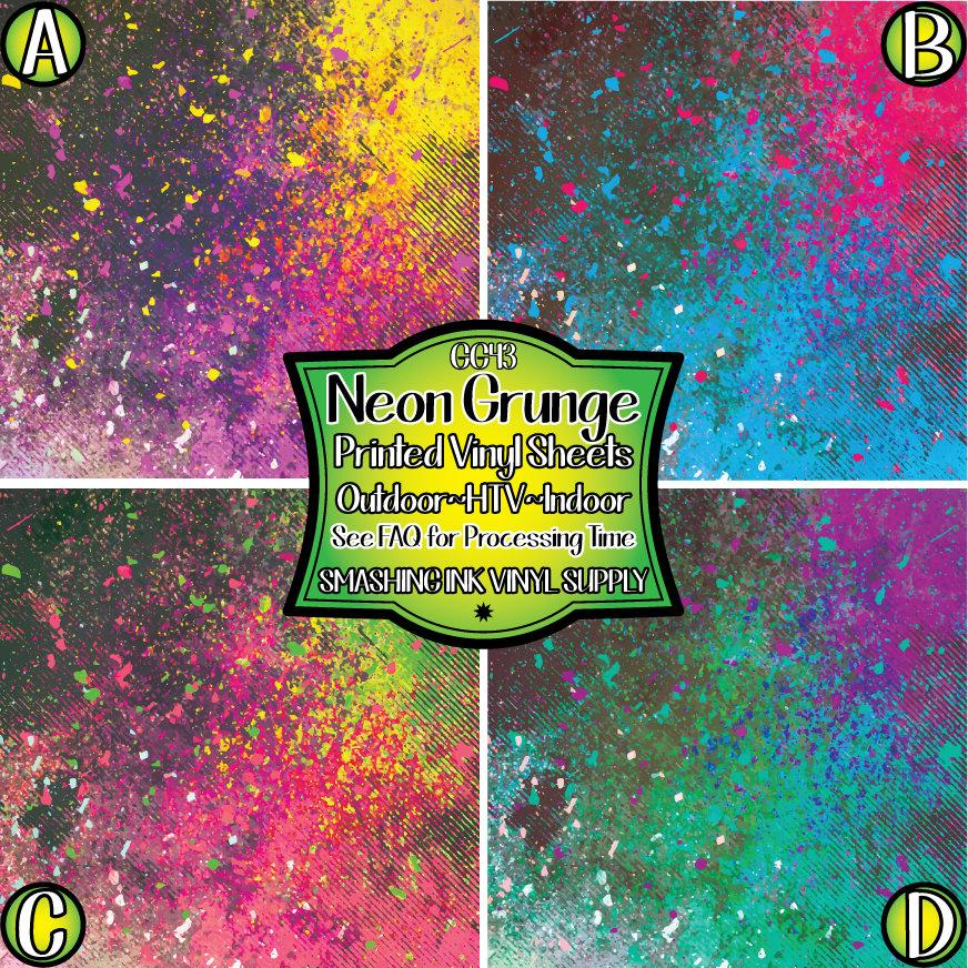 Neon Grunge - Pattern Vinyl (READY IN 3 BUS DAYS)