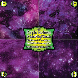 Purple Space Texture - Pattern Vinyl (READY IN 3 BUS DAYS)