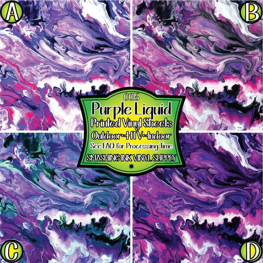 Purple Liquid Swirl - Pattern Vinyl (READY IN 3 BUS DAYS)