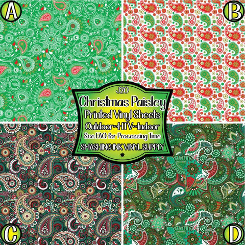 Christmas Paisley - Pattern Vinyl (SHIPS IN 3 BUS DAYS)