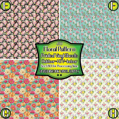 Pretty Floral Pattern - Patterned Vinyl Done Printed