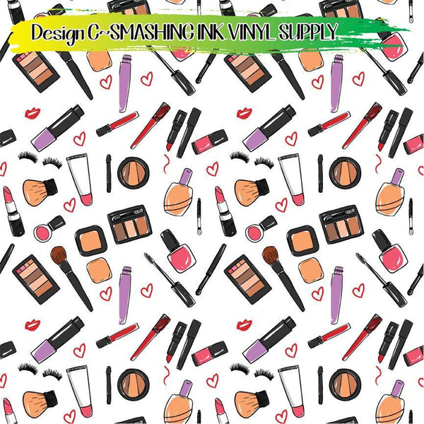 Makeup Patterned - Pattern Vinyl (READY IN 3 BUS DAYS)